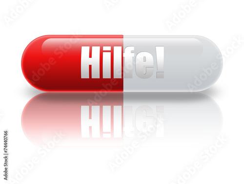 canvas print picture Pille Hilfe