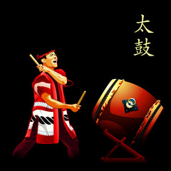 Taiko drums show poster