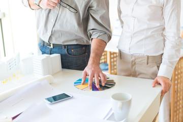 Interior designer choosing colors
