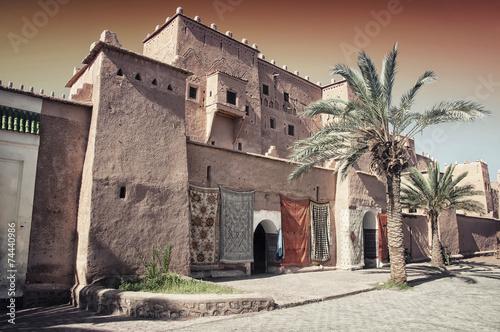 Foto op Canvas Vestingwerk Taourirt Kasbah in berber town Ouarzazate, Morocco