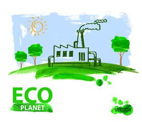 eco concept planet