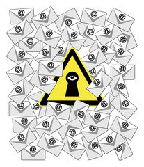 Caution Email Spy with monitoring software