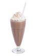 Leinwandbild Motiv chocolate milkshake isolated