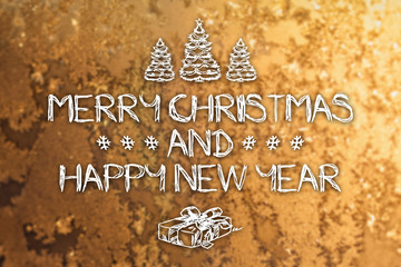 Merry Christmas and New Year greeting card