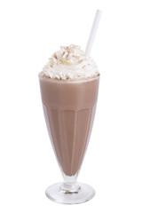 chocolate milkshake isolated