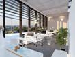 Modernes Büro im Sonnenlicht - modern loft office - 74441791