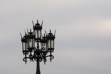 Glaslaterne auf dem Theaterplatz in Dresden