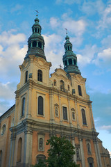 Baroque church towers in Poznan.