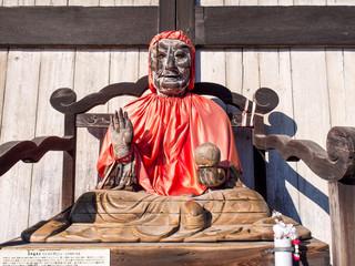 Wood monk sculpture in Todaiji temple