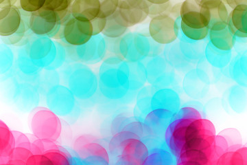 Colorful defocused bokeh lights background.