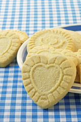 Heart Shaped Shortbread Biscuits