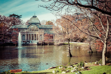 Crystal Palace in Retiro Park,Madrid, Spain.