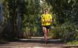 Running man in nature