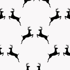 Vector background. Reindeer pattern