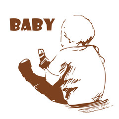 Baby. Hand-drawing.