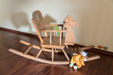 Wooden horse and Soft toy
