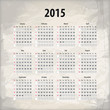 2015 calendar on textured background, eps10