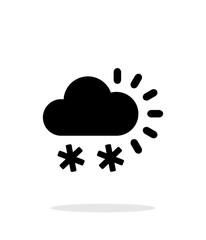Snowfall weather icon on white background.