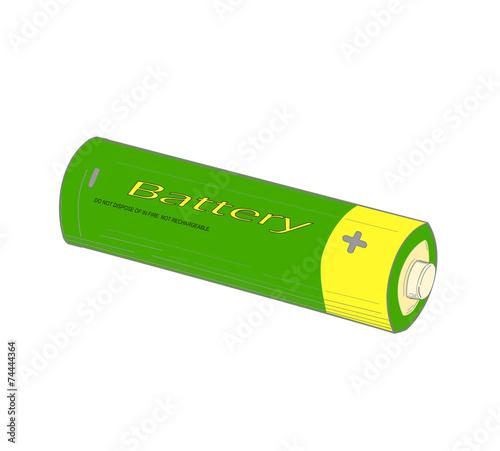 Green battery. - 74444364