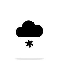 Snow weather icon on white background.