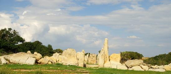 Hagar Qim  - megalithic temple complex in Island of Malta