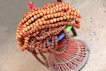 Rudraksha seed necklace. Pokhara-Nepal. 0745