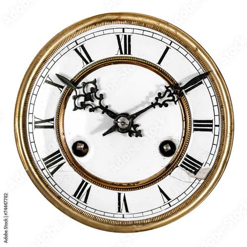 Leinwandbild Motiv Vintage antique clock