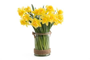 Gefüllte Narzissen in einer Vase
