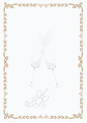 Original greeting Christmas frame for printing A4