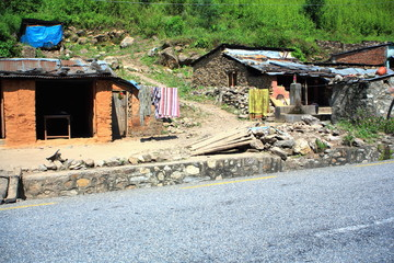 Small hamlet-Prithvi Highway. Aanbu Khaireni-Nepal. 0771