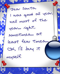 a funny message to Santa Claus