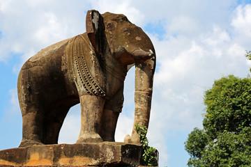 Elefant im Tempel East Mebon