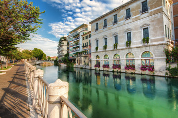 Widok na miasto Treviso,Włochy.