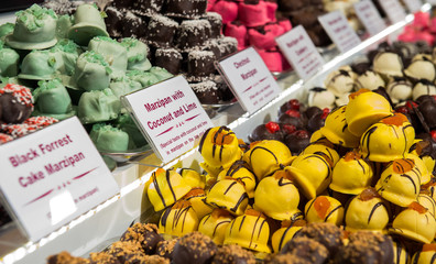 Selection of delicious homemade sweets, confectionery