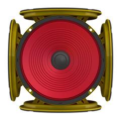 Аудио динамики в форме куба