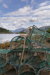 Crab and lobsterpots in Scotland