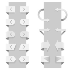 Arrows vector template for slider web elements.