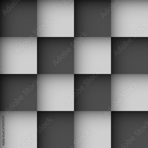 Spoed canvasdoek 2cm dik Kunstmatig Seamless black and white checks wallpaper