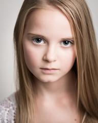 Beautiful Young Blond Teenage Girl In The Studio.