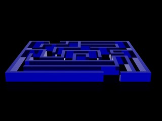 Realistic 3d render of maze