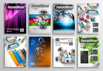 Set of Flyer Design, Infographic Templates. Brochure Designs