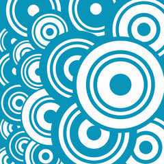 Blue Abstract Vector Circle Background