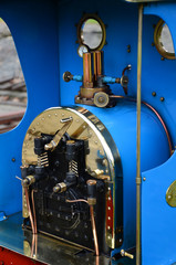 narow gauge ralway and steam train