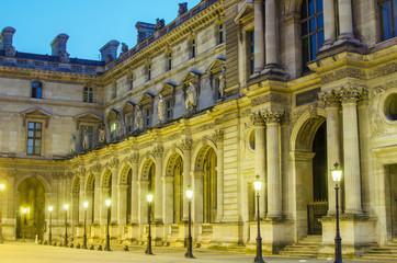 Paris (France). Louvre in the sunrise