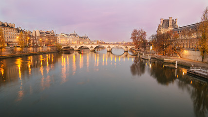 Old Town of Paris (France) in the sunrise