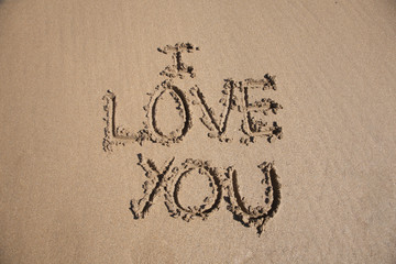 i love you text in earth
