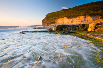 Monknash beach in Glamorgan, Wales, UK.