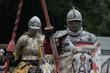Leinwandbild Motiv Zwei Ritter auf Pferden
