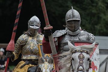 Zwei Ritter auf Pferden