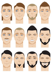 Colorful Male Faces